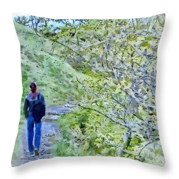 Lonely Path Throw Pillow by Jeff Kolker