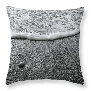 Lonely Pebble Throw Pillow