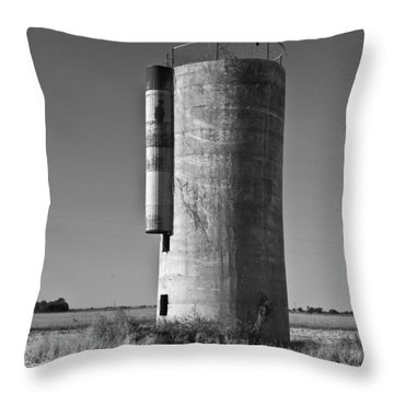 Lonely Silo 6 Throw Pillow by Douglas Barnett