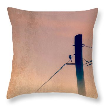 Lonely Soldier Throw Pillow by Susan Bordelon