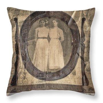 Long Ago Throw Pillow by Betty LaRue