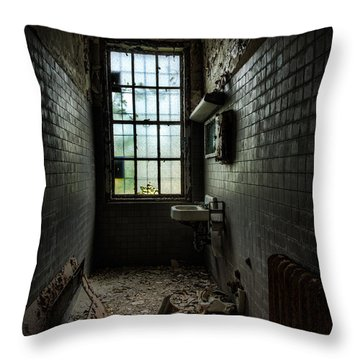 Long Narrow Lavatory Throw Pillow by Gary Heller