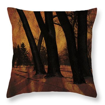 Long Shadows Throw Pillow by Alyce Taylor