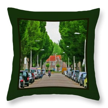 Long Way Home Throw Pillow by Hans Fotoboek