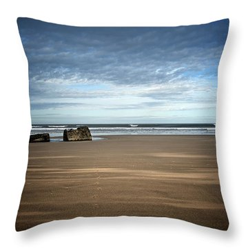 Long Way To The Sea Throw Pillow by Svetlana Sewell