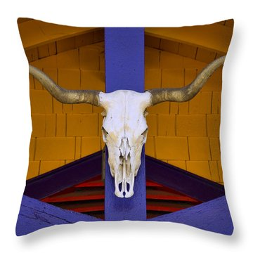 Longhorn Throw Pillow by Carol Leigh