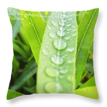 Look Deep Into Nature Throw Pillow