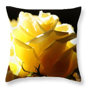Look On The Bright Side  Throw Pillow by Carol Groenen