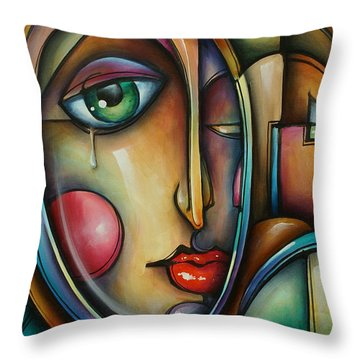 Look Two Throw Pillow by Michael Lang