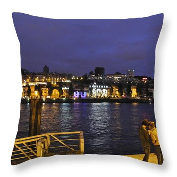 Looking At Something Interesting Throw Pillow by Kirsten Giving