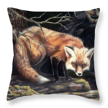 Looking For Lunch   Sold Throw Pillow