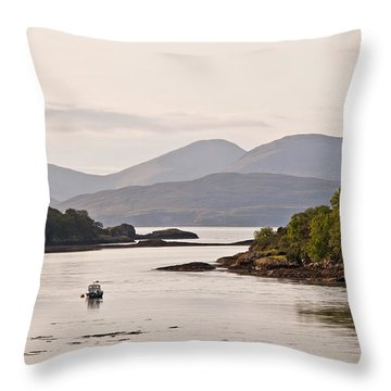 Looking To The Isle Of Mull Throw Pillow