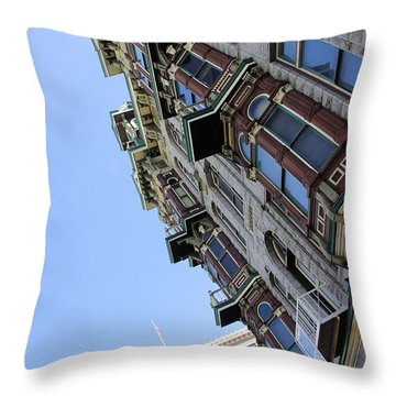 Looking Up From The Gaslamp Throw Pillow by John  Greaves