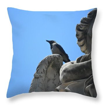 Throw Pillow featuring the photograph Lookout by Laurel Best