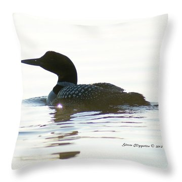 Loon 3 Throw Pillow by Steven Clipperton
