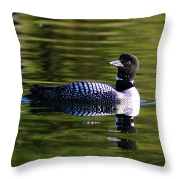 Loon 4 Throw Pillow by Steven Clipperton