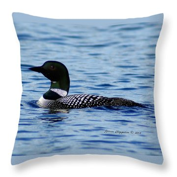 Loon 5 Throw Pillow by Steven Clipperton