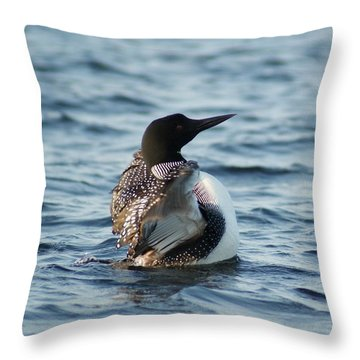 Loon Dance 1 Throw Pillow by Steven Clipperton