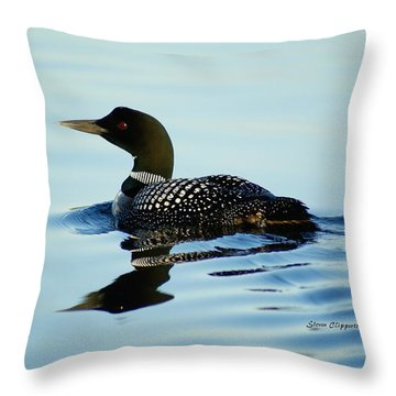 Loon Throw Pillow by Steven Clipperton