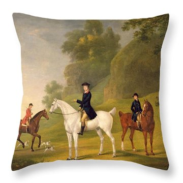 Lord Bulkeley And His Harriers Throw Pillow
