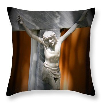 Lord Forgive Them II Throw Pillow by Al Bourassa
