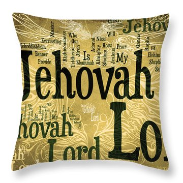 Lord Jehovah 2 Throw Pillow by Angelina Vick