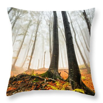 Lords Of The Forest Throw Pillow by Evgeni Dinev
