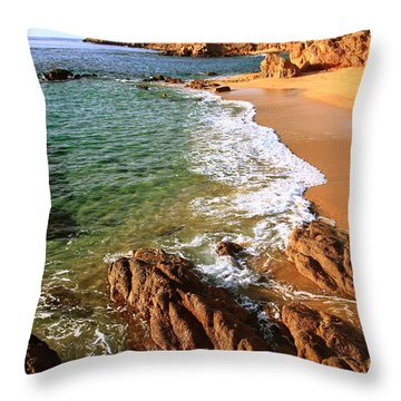 Los Cabos Coastal Landscape Throw Pillow by Roupen  Baker
