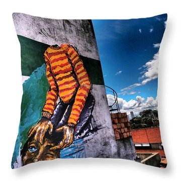 Lose Face Throw Pillow by Skip Hunt