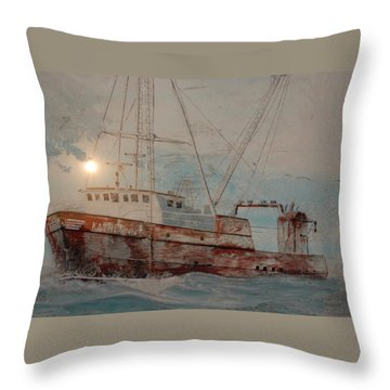 Lost At Sea Throw Pillow by Jim Cook