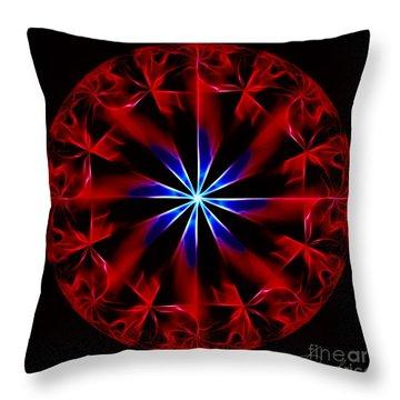 Lost Flames Throw Pillow by Danuta Bennett