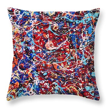 Lost In A Crowd Throw Pillow