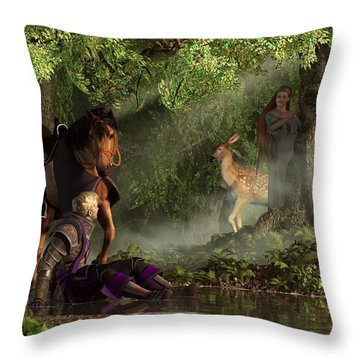 Lost In The Enchanted Forest Throw Pillow