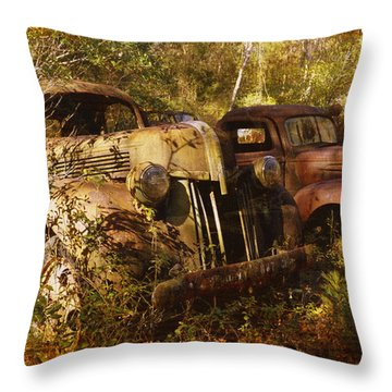 Lost In Time Throw Pillow by Carla Parris