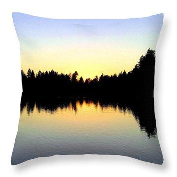 Lost Lagoon Sunset Throw Pillow by Will Borden