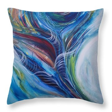 Lost Teal Throw Pillow