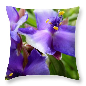 Lots Of Purple Throw Pillow