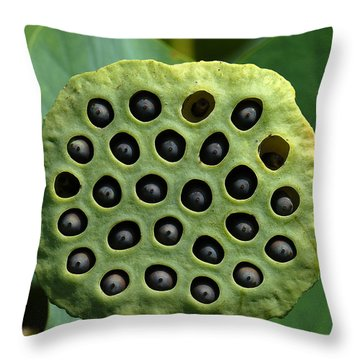 Lotus Capsule-missing Children Dl054 Throw Pillow