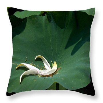 Lotus Leaf--castoff IIi Dl060 Throw Pillow