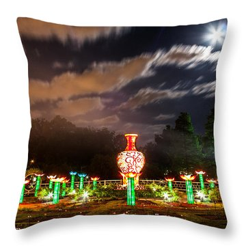 Lotus Ponds Throw Pillow by Semmick Photo