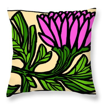 Lotus Power Throw Pillow