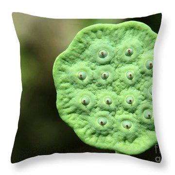 Lotus Seeds Throw Pillow by Sabrina L Ryan