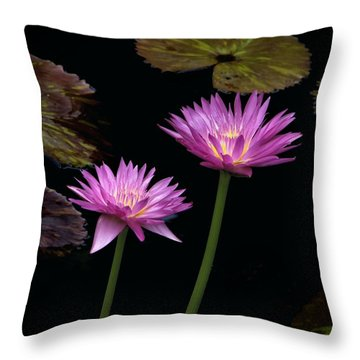 Lotus Water Lilies Throw Pillow