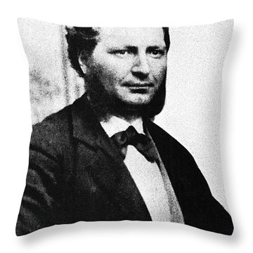 Louis Riel Throw Pillow by Granger