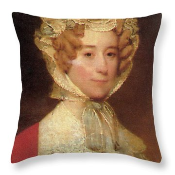 Louisa Adams Throw Pillow by Photo Researchers