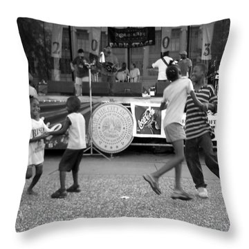 Louisiana Folklife Festival  Throw Pillow