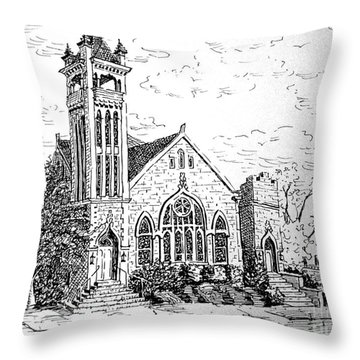 Louisianna Church 1 Throw Pillow by Gretchen Allen