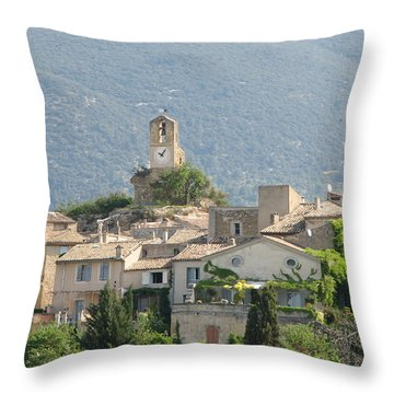 Lourmarin In Provence Throw Pillow by Carla Parris