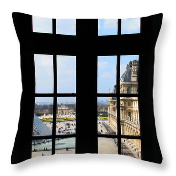 Louvre Window Throw Pillow