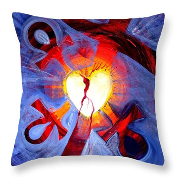 Love - In Three ... For All Throw Pillow by J Vincent Scarpace